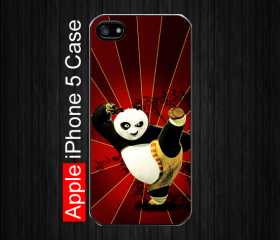 iPhone 5 Case,kungfu panda, Black Case