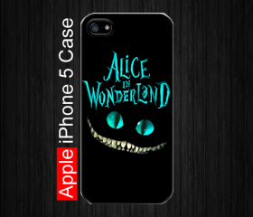 iPhone 5 Case, Cheshire Cat Alice in wonderland iPhone 5 Case, Black Case