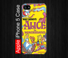iPhone 5 Case,Alice in Wonderland #4 iPhone 5 Case, Black Case